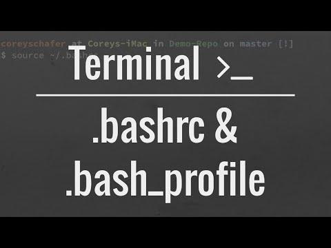 Customizing Your Terminal: .bash_profile and .bashrc files