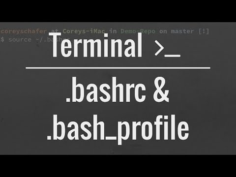 How to create a file in linux using bashrc