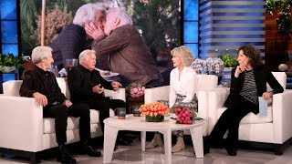 Sam Waterston and Martin Sheen Discuss Their First On-Screen Kiss