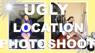 UGLY LOCATION PHOTOSHOOT CHALLENGE!