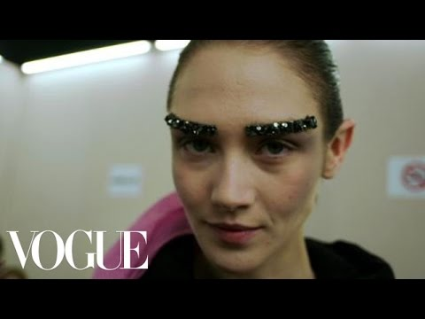 Backstage at Chanel Fall 2012 with Makeup Artist Peter Philips