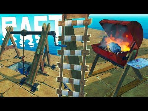 RAFT - Secret Underwater Shack Chest! - Major Upgrades & Game Updates - Raft Gameplay Highlights