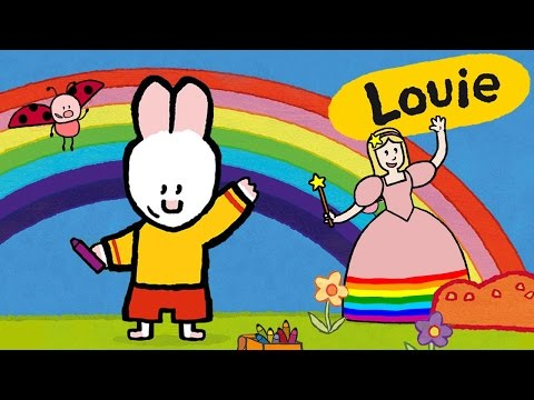 Special Louie draw me the Rainbow Fairy   Learn to draw, cartoon for children