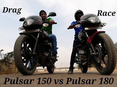 Drag race : pulsar 180 vs pulsar 150