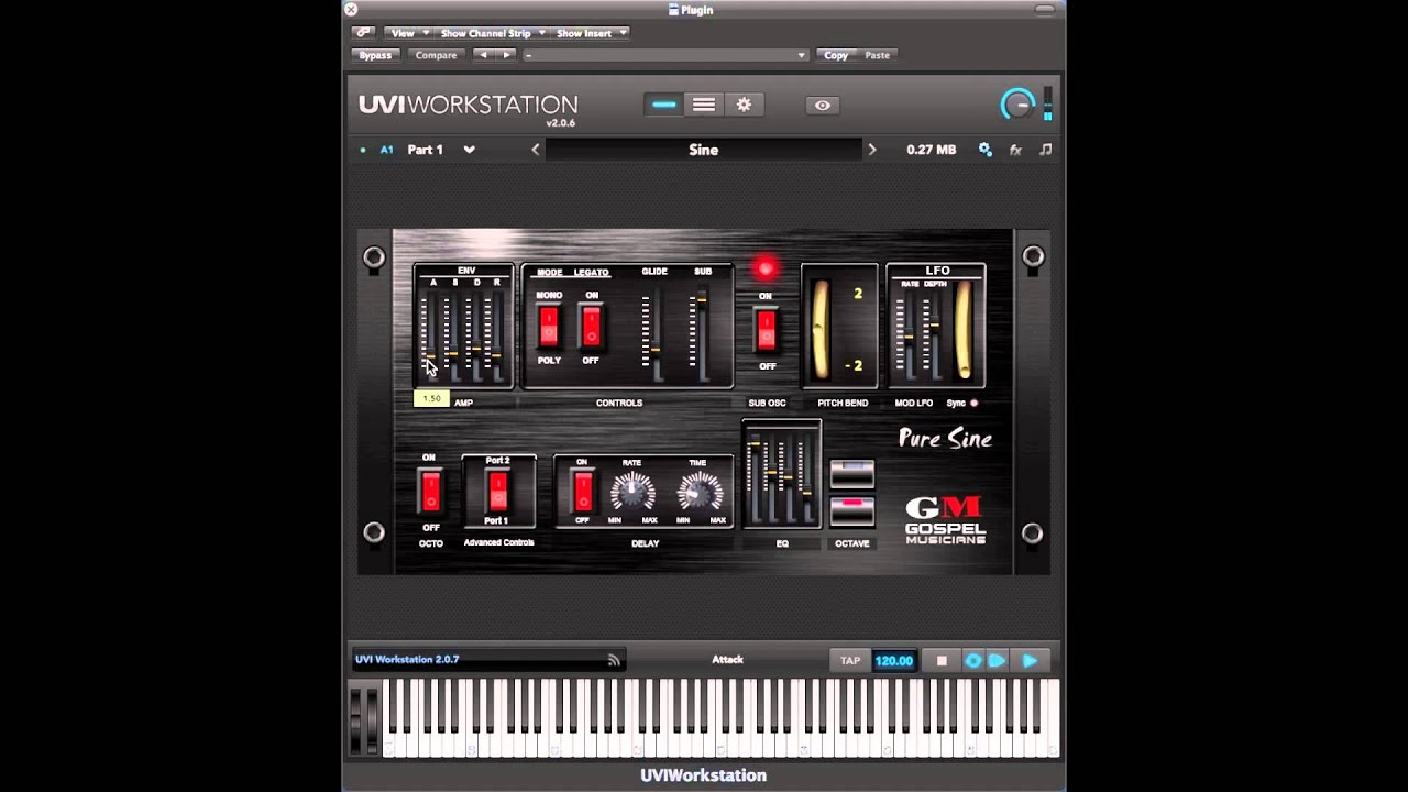 Pure Sine Synthesizer Plugin for UVI FREE Player Workstation