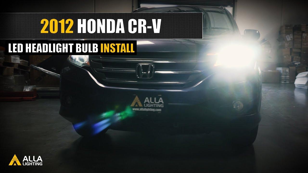 How To Replace 2007 2014 Honda Cr V Halogen Bulb W Led Headlight Youtube