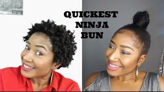 HOW TO || QUICKEST NINJA BUN