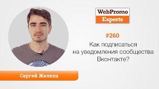 Как подписаться на уведомления сообщества Вконтакте? TV #260