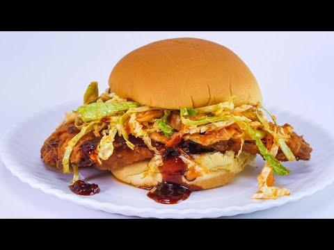 Rachael's Korean Fried Chicken Sandwiches with Kimchi Slaw