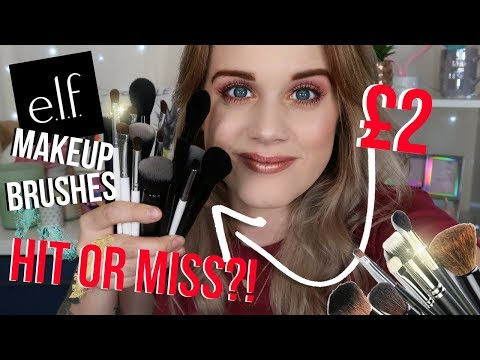 HIT or MISS E.L.F MAKEUP BRUSHES?!  *REVIEW*