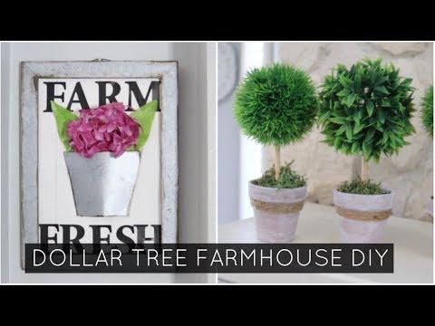 DIY FARMHOUSE SPRING DECOR// DOLLAR TREE DIY'S