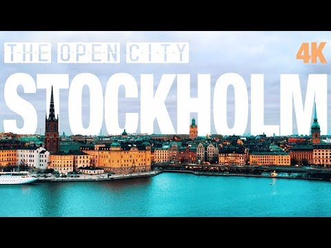 STOCKHOLM City - Sights - People - Sweden - 4K - The open city