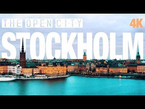 STOCKHOLM view 4K -full time travel-  sweden-isveç-schweden
