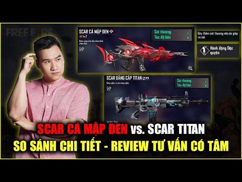 Free Fire | So Sánh SCAR CÁ MẬP ĐEN Và SCAR TITAN: Có Titan Rồi Có Nên Mua Cá Mập? | Rikaki Gaming