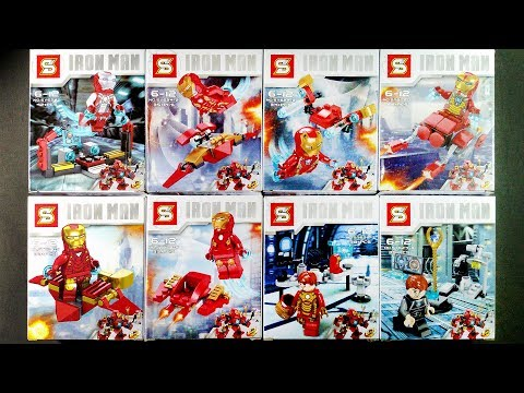 LEGO Marvel Super Heroes Iron Man Minifigures (bootleg / knock-off) Sheng Yuan SY624