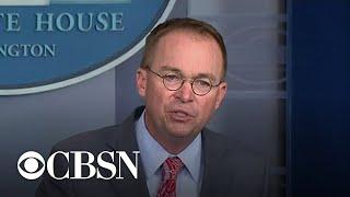 Mulvaney says Ukraine aid was tied to investigation into 2016