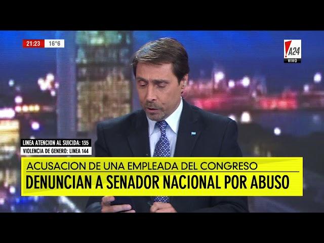 Denuncian al senador radical Juan Carlos Marino por abuso sexual