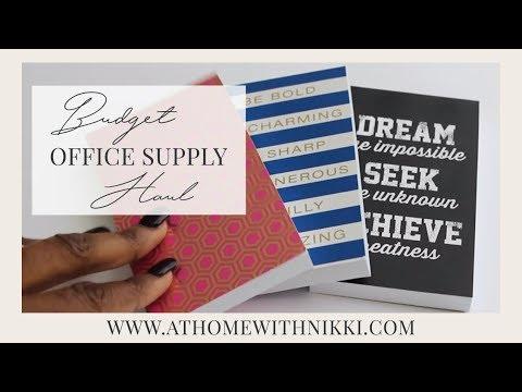 Budget Office Supply Haul