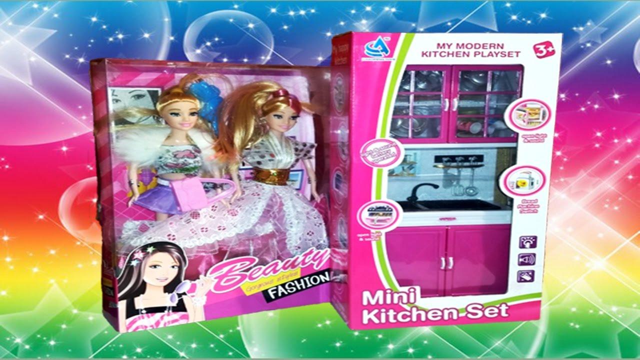 Mini Kitchen Set And Barbie Part 1 Youtube
