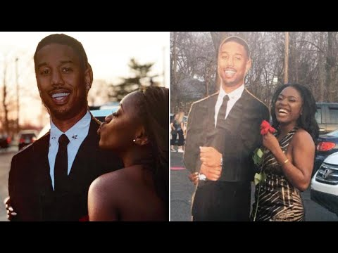 Teen Goes to Prom With Michael B. Jordan Cardboard Cutout