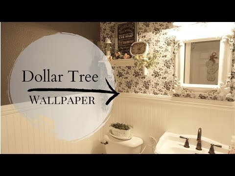 DOLLAR TREE WALLPAPER HACK | DIY BATHROOM REFRESH | WHAT I WOULD DO DIFFERENTLY NEXT TIME
