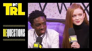 The 'Stranger Things' Cast Answer Rapid-Fire Fan Questions | Requestions | TRL
