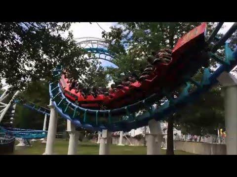 Corkscrew Rollercoaster at Canobie Lake Park in Salem, New Hampshire