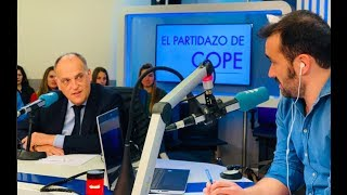 Entrevista completa a Javier Tebas en El Partidazo de COPE