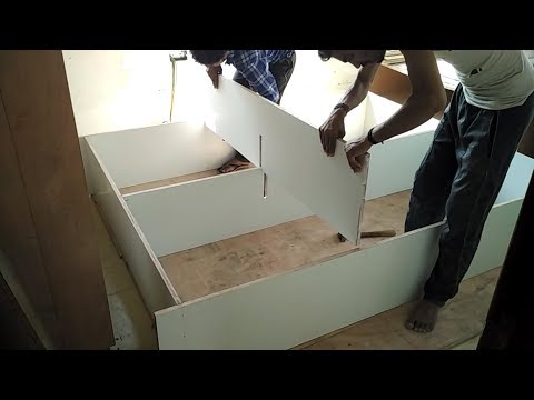 How to make sliding wardrobe for bedroom ! Almari  kaise banaye Ghar ke liye !wardrobe design 2019