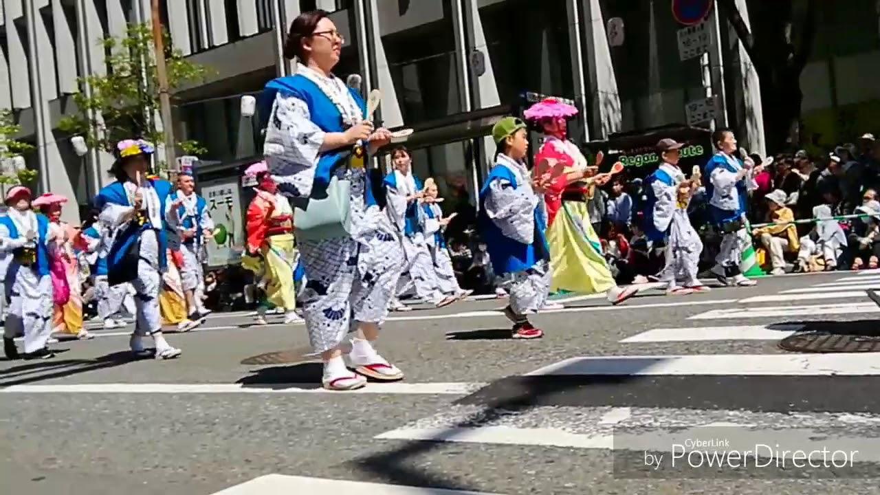 博多どんたく2018パレードダイジェストNo.2 - YouTube
