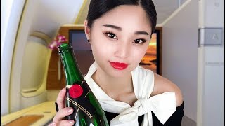 [ASMR] 8 Hours! First Class Flight Attendant Roleplay ~ Overnight Flight