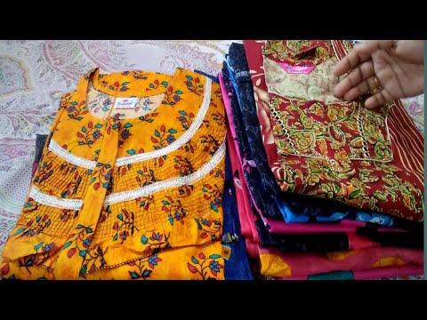 Frill Nighties /Cotton Nighties /Vikas Night Suits/low Price/Thirumathi  Raji