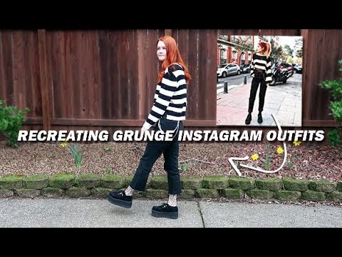 recreating grunge instagram outfits with clothes I already own