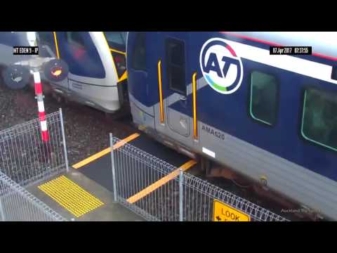 Thumbnail: Woman has near miss with train at Auckland station | firefighting