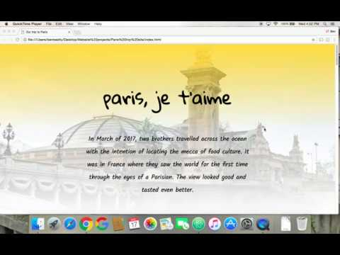 Tribute To Paris (One Page Site) HTML And CSS