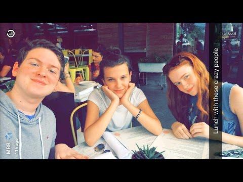 Millie Bobby Brown ► Snapchat Story ◄ 29 April  w Sadie Sink