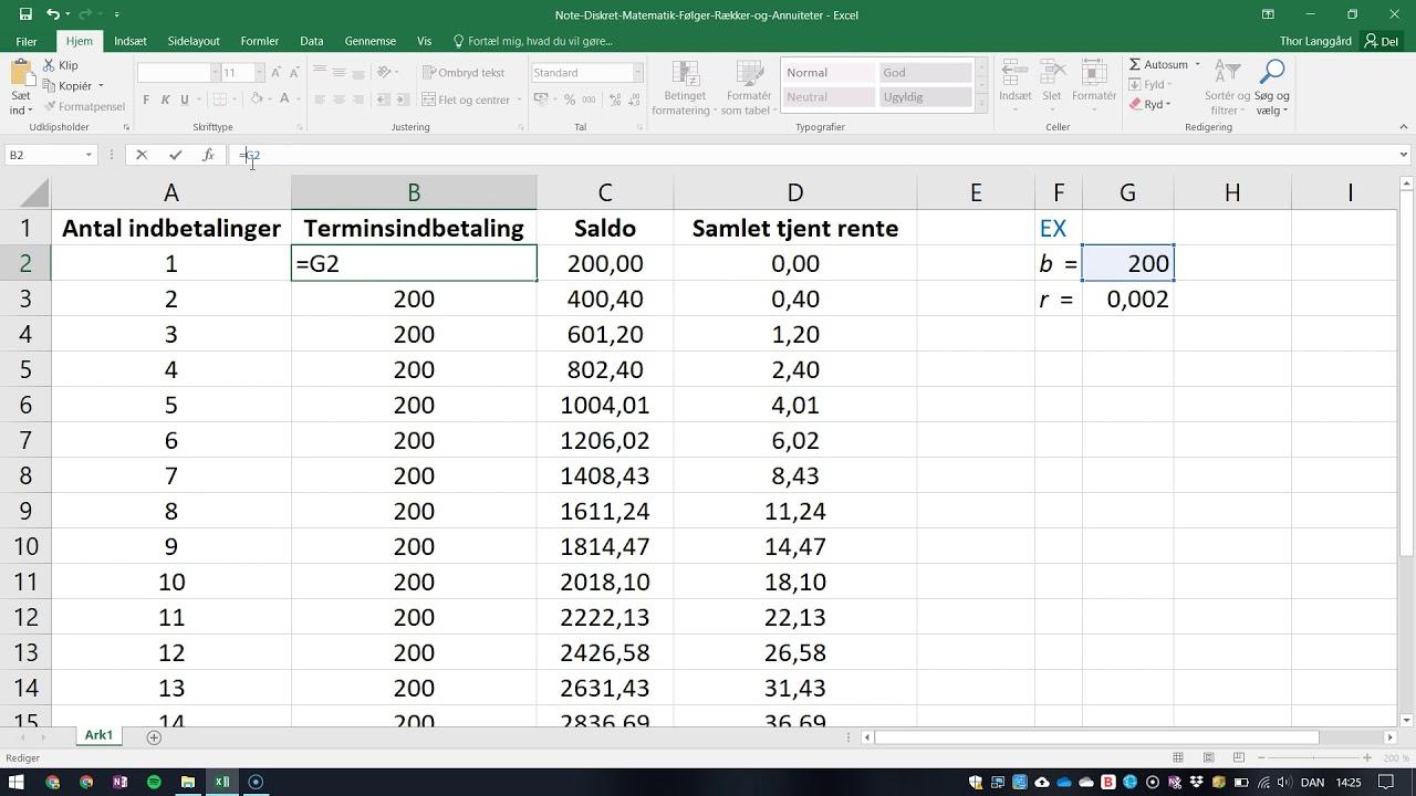 Excel - Referencer til låste celler
