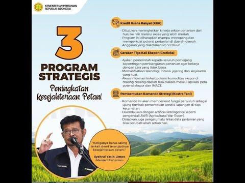 MILIKI 3 PROGRAM HANDAL, KEMENTAN UBAH WAJAH PERTANIAN INDONESIA