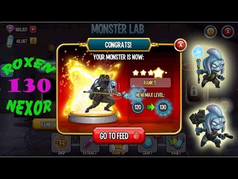 ☢ Monster Legends ☢ Roxen ⚔ Nexor level 130 combat review ✌