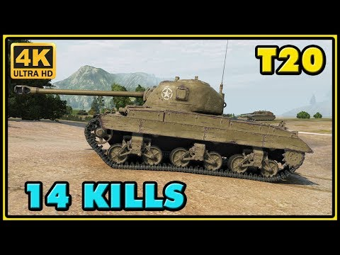 World of Tanks | T20 - 14 Kills - 4,2K Damage - 1 VS 6 Gameplay