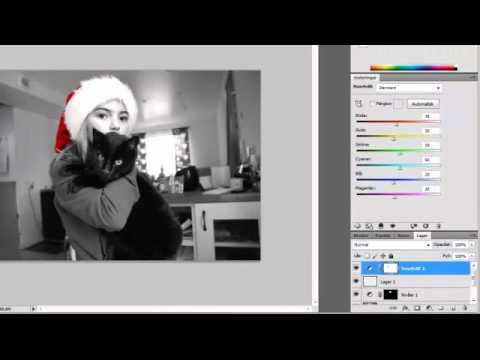 Hur man redigerar fram färg ifrån svartvitt bild.mp4