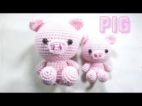 Crochet pig free amigurumi pattern - YouTube | 360x480