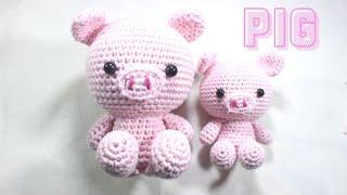 PIG AMIGURUMI CROCHET TUTORIAL | CUTE AMIGURUMI| FREE PATTERN / Видео