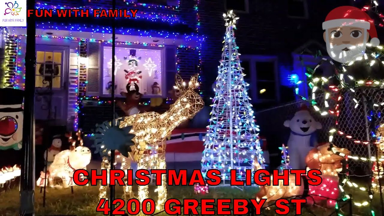 Greeby Street Christmas Lights 2020 CHRISTMAS LIGHTS 2018 4200 BLOCK OF GREEBY ST / DINNER AT FOUR