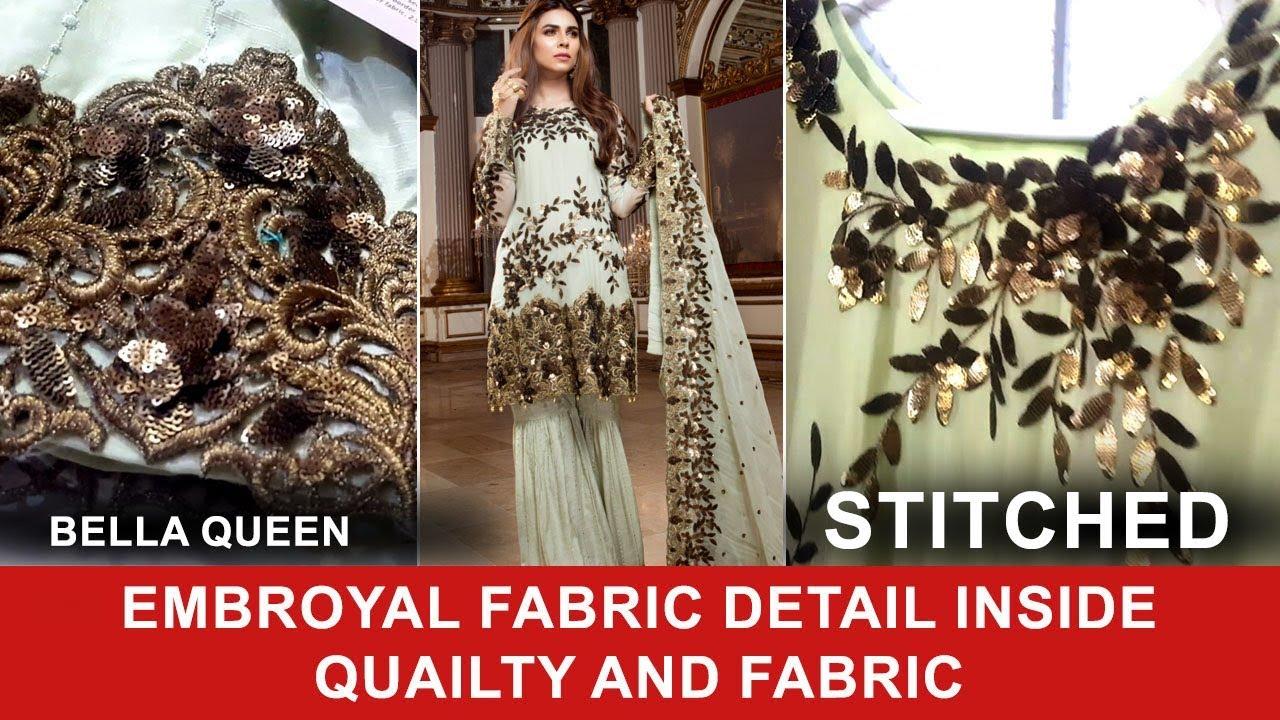 27ab4f81f5 Emb Royal 08 Bella Queen 2017 Stitched Pure Chiffon and Chiffon Dupatta - Pakistani  Branded Dresses