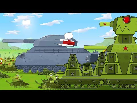 KB 44 Tank kartun untuk anak-anak full movie. Animasi Monster Truck. Kartun perang.