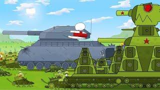 Gambar cover KB 44 Tank kartun untuk anak-anak full movie. Animasi Monster Truck. Kartun perang.