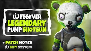 NEW WEAPON! | LEGENDARY PUMP SHOTGUN! PATCH NOTES + NEW GIFT SYSTEM! (Fortnite Battle Royale)