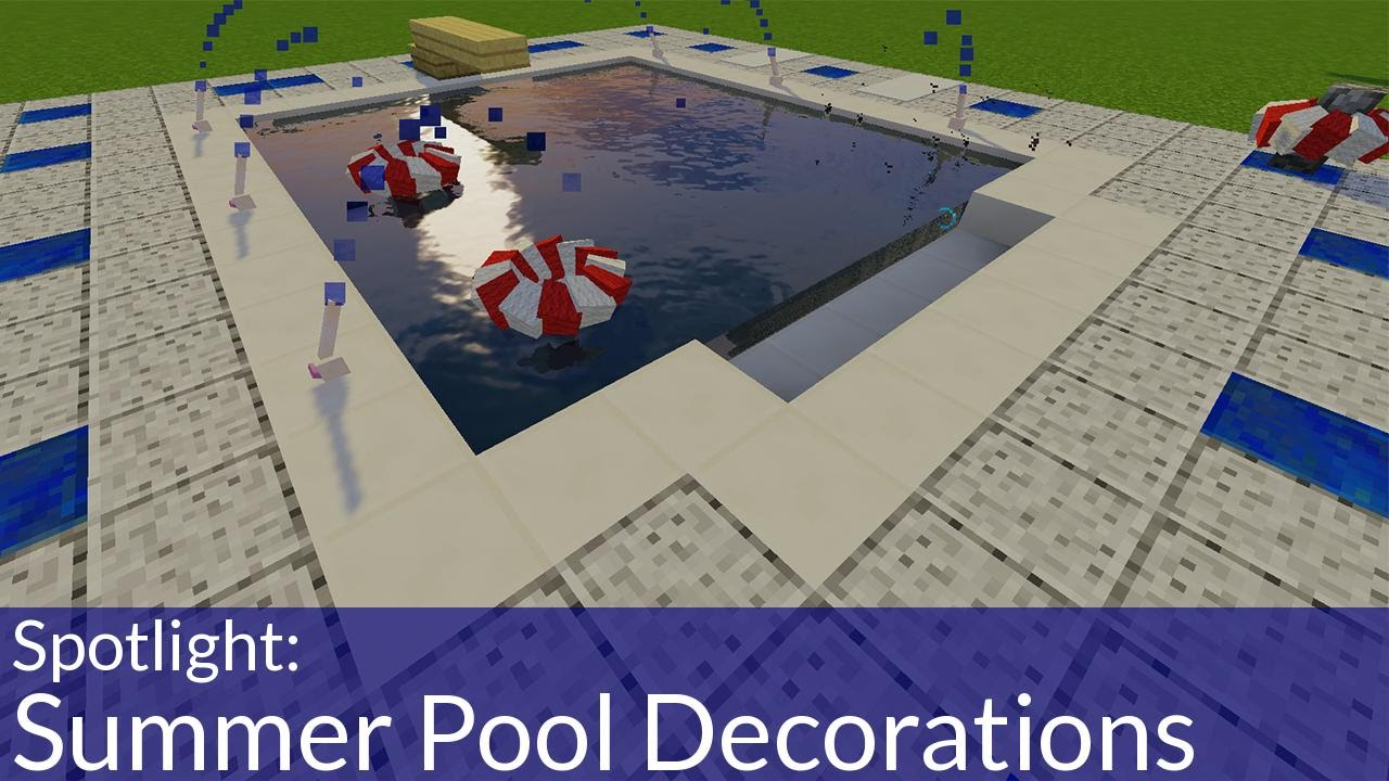 Decorate Your Swimming Pool With One Command in Minecraft
