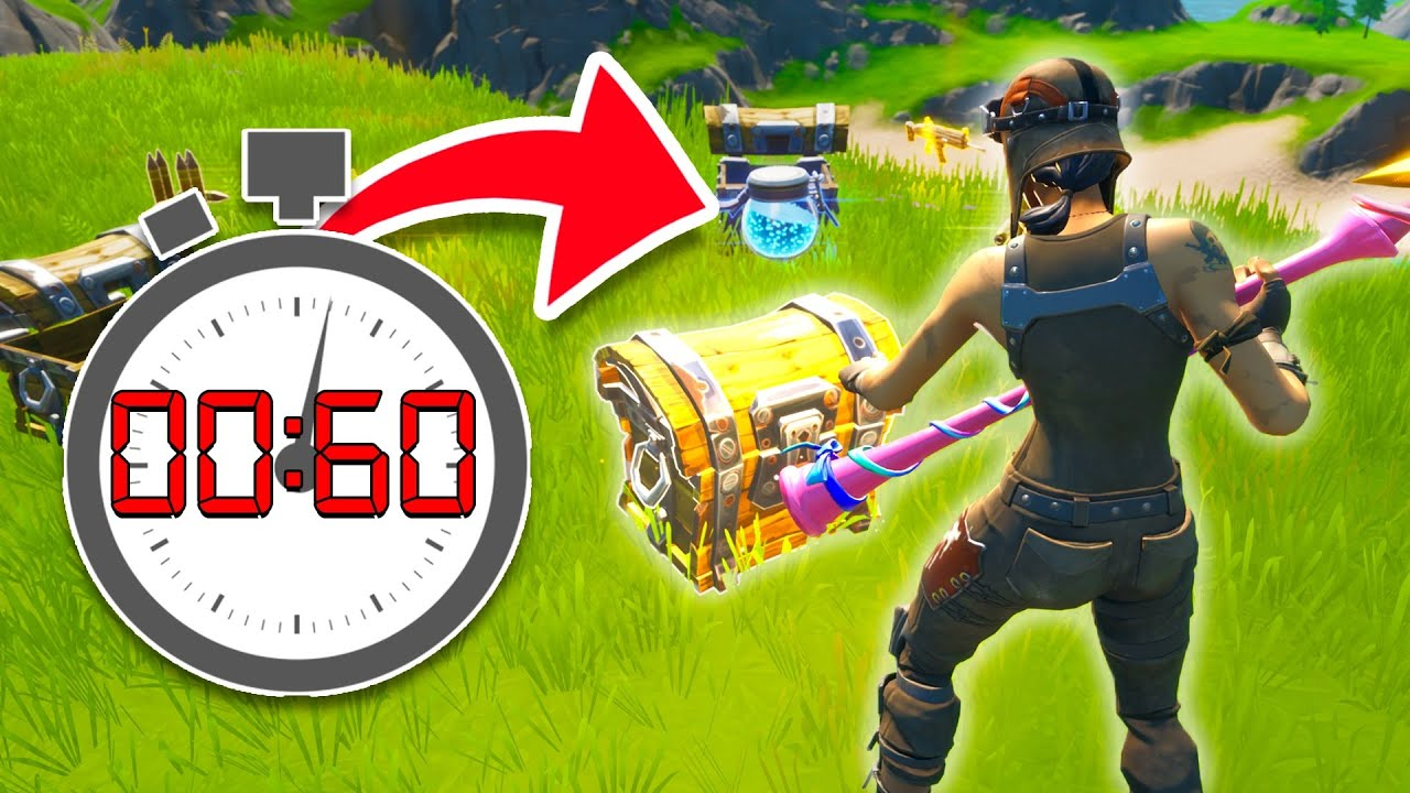 I only have 60 SECONDS TO LOOT in Fortnite...